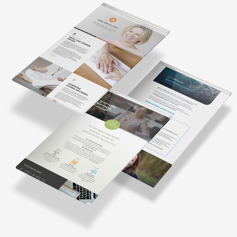 bright idea one page webdesign