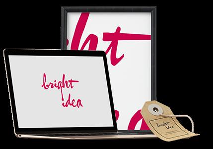 bright idea branding page